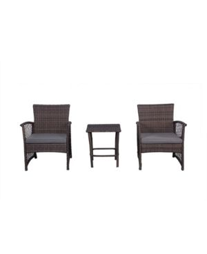 Morada 3 Piece Woven Rattan Wicker Seating Set  Gray