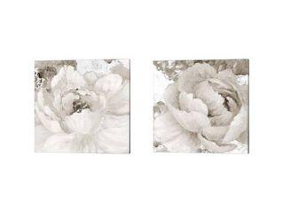 lanie loreth  light Grey Flowers  Canvas Art  Set of 2