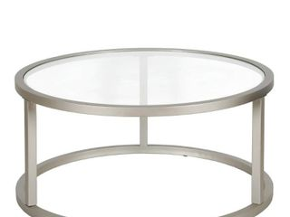 Silver Orchid Stossel Round Coffee Table  Retail 174 99
