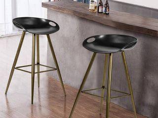 FurnitureR FIYAN PP BK   BRONZE 2PCS Bar Stool