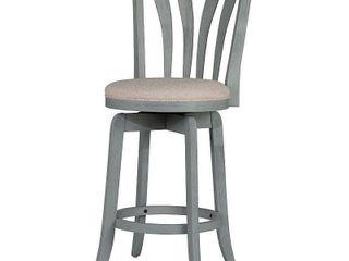 25 75  Savana Swivel Counter Height Barstool Blue  Wirebrush Cream   Hillsdale Furniture