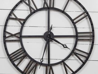 Gallery Solutions Oversized Black Bronze Metal Wall Clock  Retail 128 49