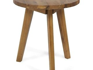 Marina Outdoor Farmhouse Acacia Wood Side Table by Christopher Knight Home