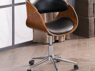 Corvus Mid century Wood and Metal Adjustable Office Chair   Retail 123 00