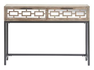 Hayworth Mirrored Console Table Gray   Finch