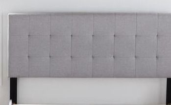 Copper Grove Ayrum Upholstered Bed Frame with Square Tufted Headboard  Retail 167 49