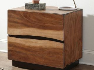 Carbon loft Clell Smokey Walnut and Coffee Bean 2 drawer Nightstand  Retail 342 99