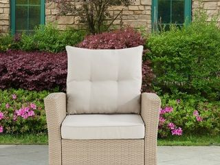 lawayon Outdoor Wicker Armchair with Cushions by Havenside Home  Retail 472 49