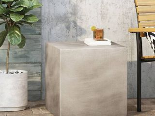 Aberdeen lightweight Concrete Side Table by Christopher Knight Home  Retail 153 99