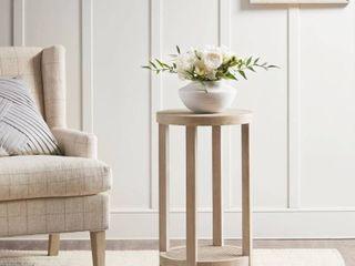 Martha Stewart Reclaimed Wheat Round Accent Table  Retail 181 49