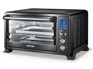 Toshiba AC25CEW CHBS Digital Convection Toaster Oven  Black Stainless