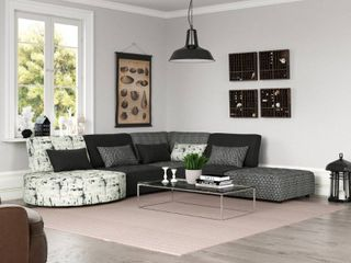 Porch   Den McCarthy Modular Section Multi Black and Grey Fabrics just the end piece