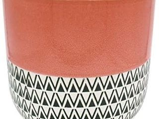 Amazon Brand a Stone   Beam Mid Century Patterned Planter  10 53 H  Coral Pink
