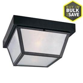 Portfolio 10 37 in W Black Outdoor Flush Mount light