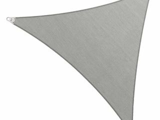 ColourTree 32  x 32  x 32  Grey Triangle Super Ring Sun Shade Sail Canopy Structure  Super Durable Heavy Duty  Reinforced Corners  Edges   260 GSM Permeable Fabric