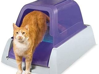 PetSafe ScoopFree Ultra Automatic Self Cleaning Hooded Cat litter Box a Includes Disposable Trays with Crystal litter and Hood
