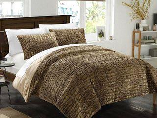 Chic Home Alligator 3 Piece Queen Comforter Set