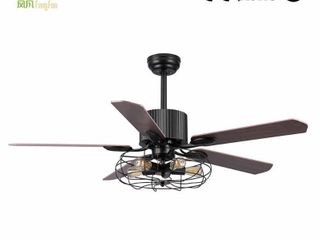 Industrial design Air conditioning National style AC motor Ceiling lamp fan