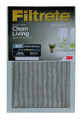 Filtrate BD03 6PK 1E 20x25x1  AC Furnace Air Filter  MPR 300  Clean living Basic Dust  6 Pack