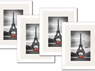 Studio 500  4 Value Pack luxury Set of 12 by 16 inch Acid Free Off White Core Mat Board for 8x12 Pictures