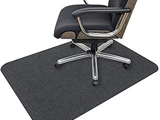 Office Chair Mat  Opaque Hard Floor Mat for Home  0 16  Thick Multi Purpose low Pile Desk Chair Mat for Hardwood Floor  35x55 in    Dark Gray