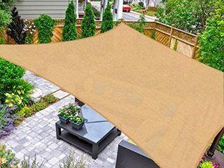 AsterOutdoor Sun Shade Sail Rectangle 16  x 20  UV Block Canopy for Patio Backyard lawn Garden Outdoor Activities  Sand