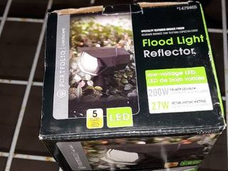 2x Portfolio 2000 lumen 27 watt Bronze low Voltage led Flood light 1479465