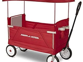 Radio Flyer 3 In 1 EZ Folding  Outdoor Collapsible Wagon for Kids   Cargo  Red