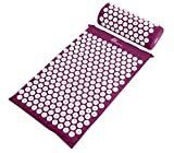 ProSource Acupressure Mat and Pillow Set for Back Neck Pain Relief and Muscle Relaxation