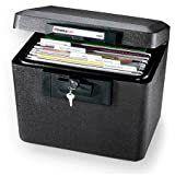 SentrySafe 1170 Fireproof Box with Key lock 0 61 Cubic Feet Black