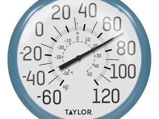 Taylor Precision Products 6700TE Big   Bold Wall Thermometer  Teal
