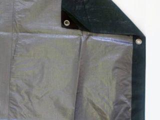 Heavy Duty Green and Silver Reversible Tarp