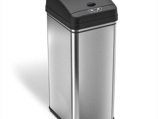 iTouchless 13 Gallon Touchless Sensor Kitchen Trash Can  Stainless Steel  Odor Filter System