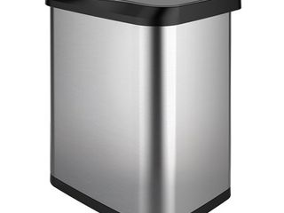 GlAD 13G Stainless Steel Sensor Trash Can with Clorox Odor Protection lid Fits Glad Kitchen Pro 13 Gallon Waste Bags