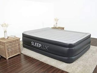 Sleeplux Queen Air Mattress with Built in AC Pump   22  Raised Inflatable Airbed   Includes Built in Pillow and USB Charge Port   Best Back and Shoulder Support   Durable Tritech Material