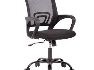 Mid Back Mesh Ergonomic Computer Desk Office Chair  Black