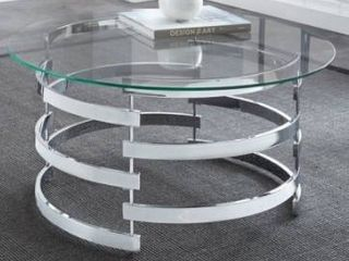Missing glass table top Silver Orchid Bardeen Round Coffee Table Retail 181 99