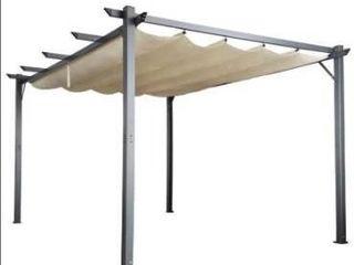 Cloud Mountain Patio Pergola Flat Hanging KD Tent Retractable Gazebo for Outdoor Garden or Deck Retail 607 49