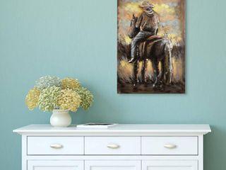 Cowboy Mixed Media Iron Hand Painted Dimensional Wall Art Retail 115 99