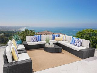 Only 2 pieces Santa Cruz Outdoor Wicker Sectional Sofa Set with Cushions by Christopher Knight Home