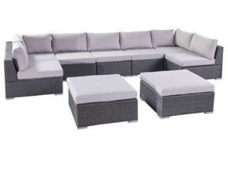 Corner chair with ottoman only  Puerta Outdoor Wicker Sectional by Christopher Knight Home