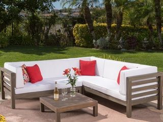 Only 1 piece of sectional Oana Outdoor Sectional Sofa Set with Coffee Table by Christopher Knight Home Retail 1049 99