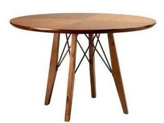 Ivy   Clark pecan round dining table