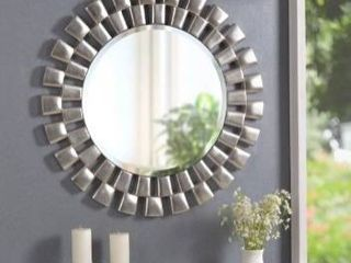 Hera 36 inch Silver Sunburst Wall Mirror   36  Dia  Retail 208 00