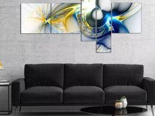 Designart shining multicolored plasma 5 piece canvas