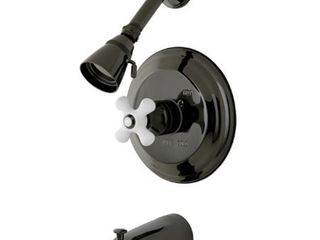 Black Stainless Steel Pressure Balanced Tub and Shower Faucet Retail 226 99