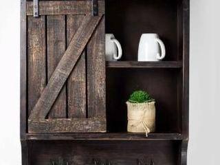 Brown Wood Wall Storage Cabinet Retail 169 49