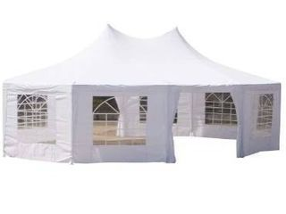 Outsunny large 10 wall Event Wedding Gazebo Canopy Tent  29 x20  Retail 586 99
