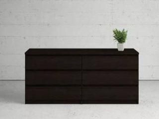 Partial not all there Porch   Den McKellington black 6 drawer double dresser