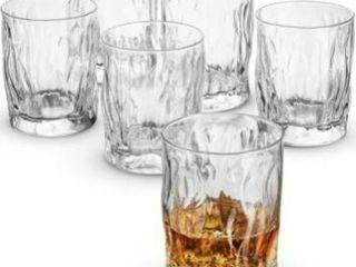 Double Old Fashioned Whiskey glasses   Set of 6   Whiskey Glass set 11 75 Ounce Crystal Cocktail Glasses For Whisky  Bourbon